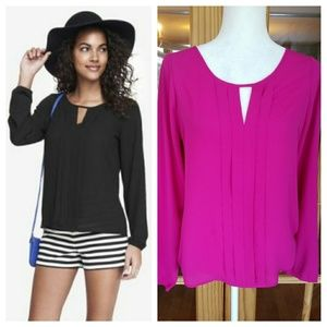 Express Pleated Keyhole Top